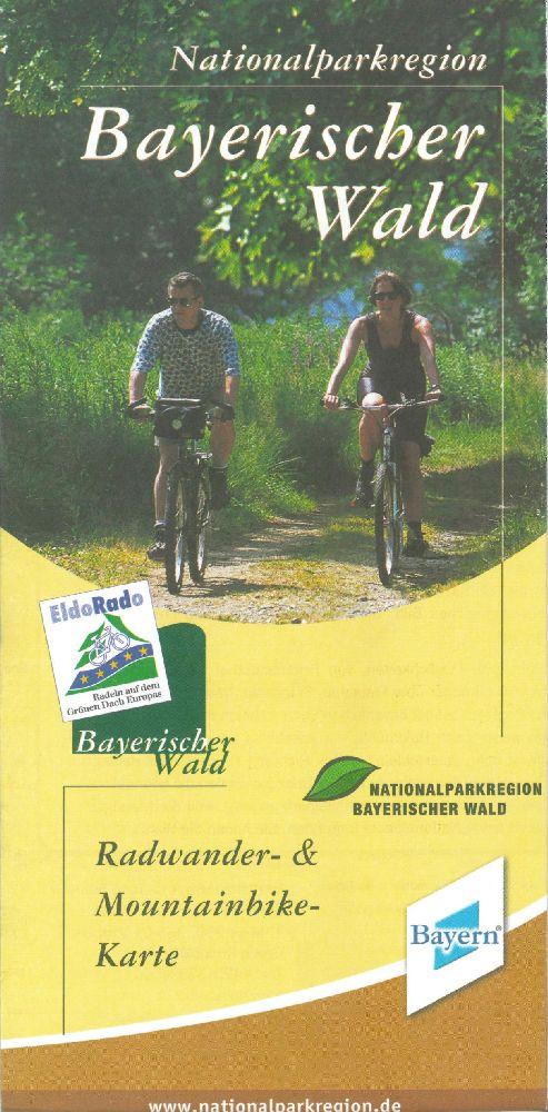 Radwander- und Mountainbikekarte. Foto: Nationalpark Bayerischer Wald.