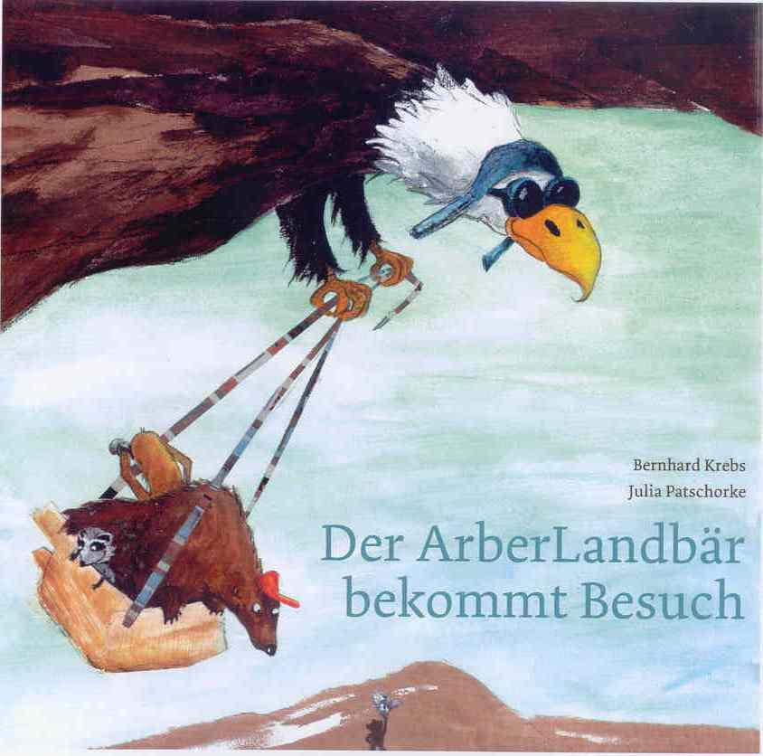 Der ArberLandbär bekommt Besuch. Foto: Touristisches Service Center/Bernhard Krebs.