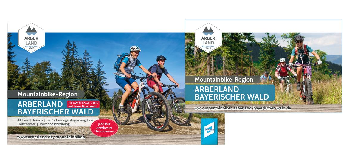 Mountainbike-Tourenbuch und Mountainbike-Karte ARBERLAND im Set. Foto: ARBERLAND REGio GmbH.