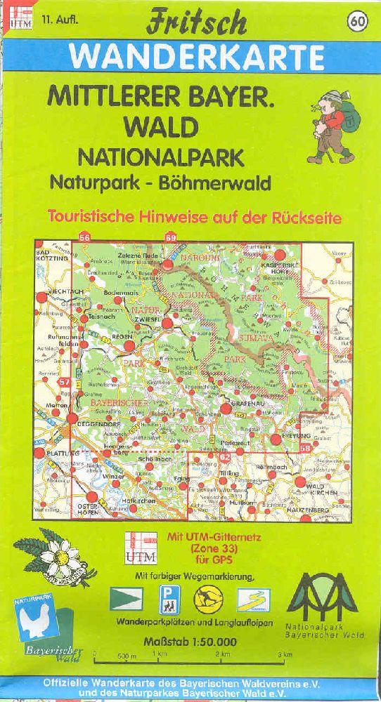 Wanderkarte Mittlerer Bayerischer Wald. Foto: Fritsch