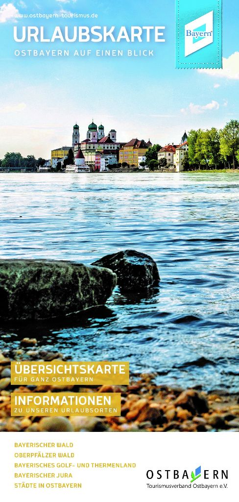 Urlaubskarte - Ostbayern auf einen Blick. Foto: Tourismusverband Ostbayern e.V.
