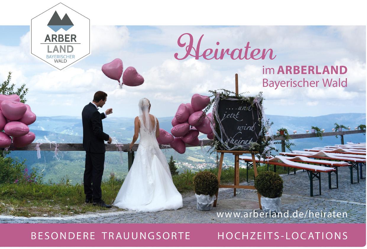 Broschüre - Heiraten im ARBERLAND BAYERISCHER WALD. Foto: ARBERLAND REGio GmbH.