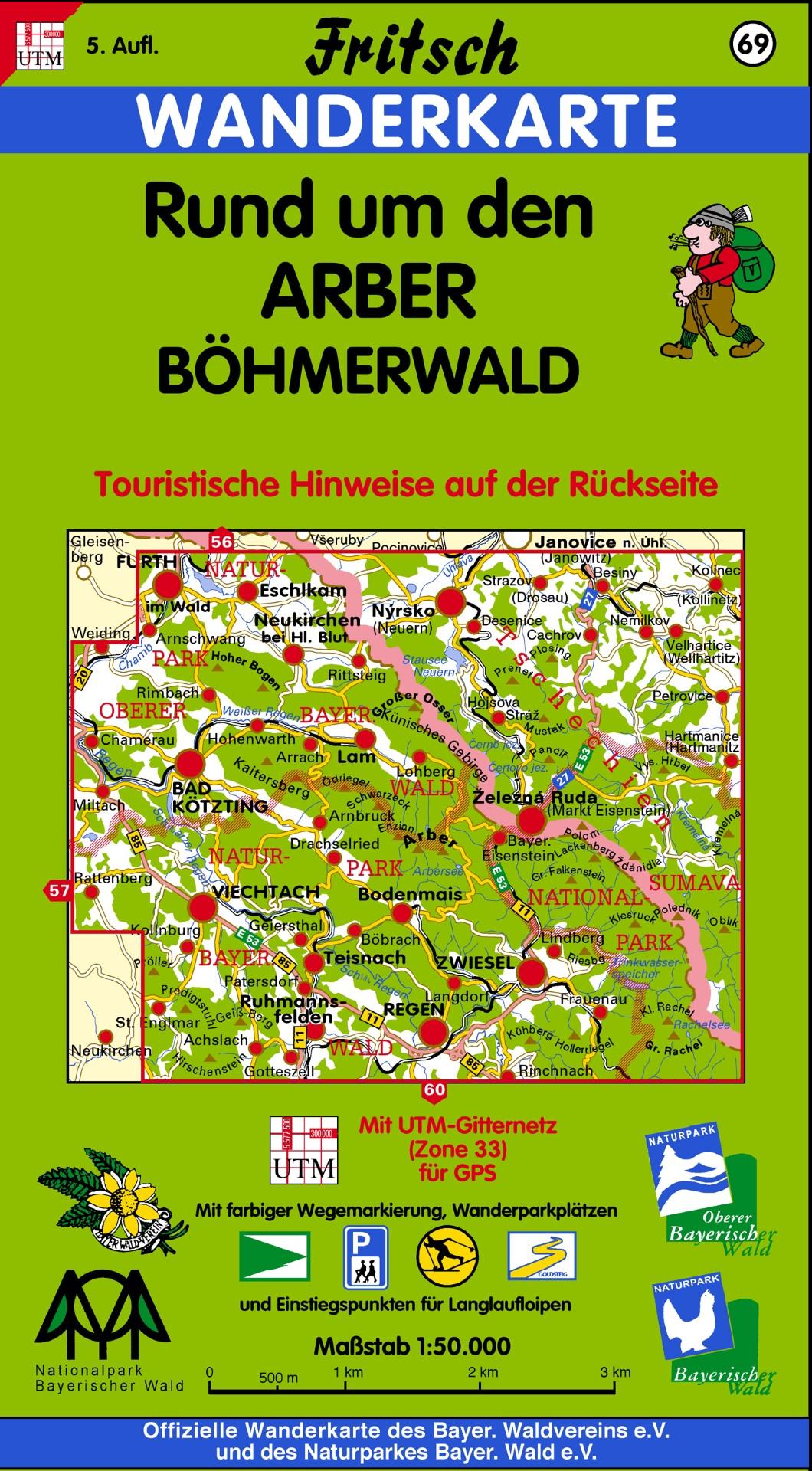 "Wanderkarte ""Rund um den Arber"". Foto Fritsch"