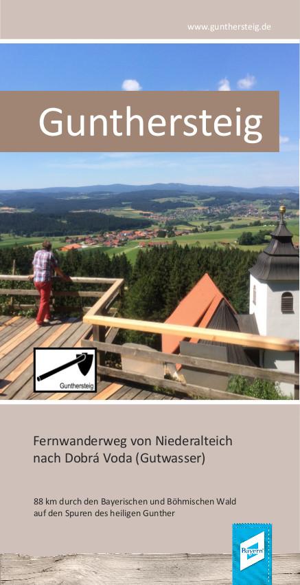 Gunthersteig - Fernwanderweg von Niederalteich nach Dobra Voda. Foto: Tourismusverband Ostbayern e.V.