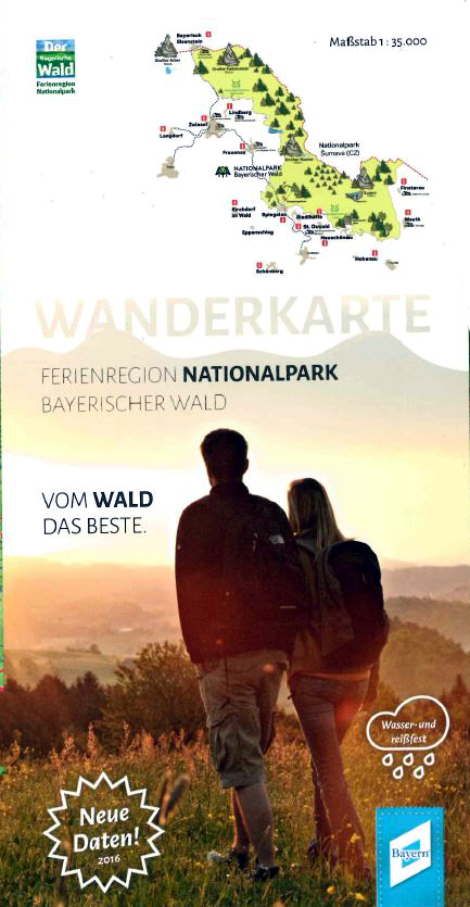 Wanderkarte der Ferienregion Nationalpark Bayerischer Wald. Foto: Ferienregion Nationalpark Bayerischer Wald.