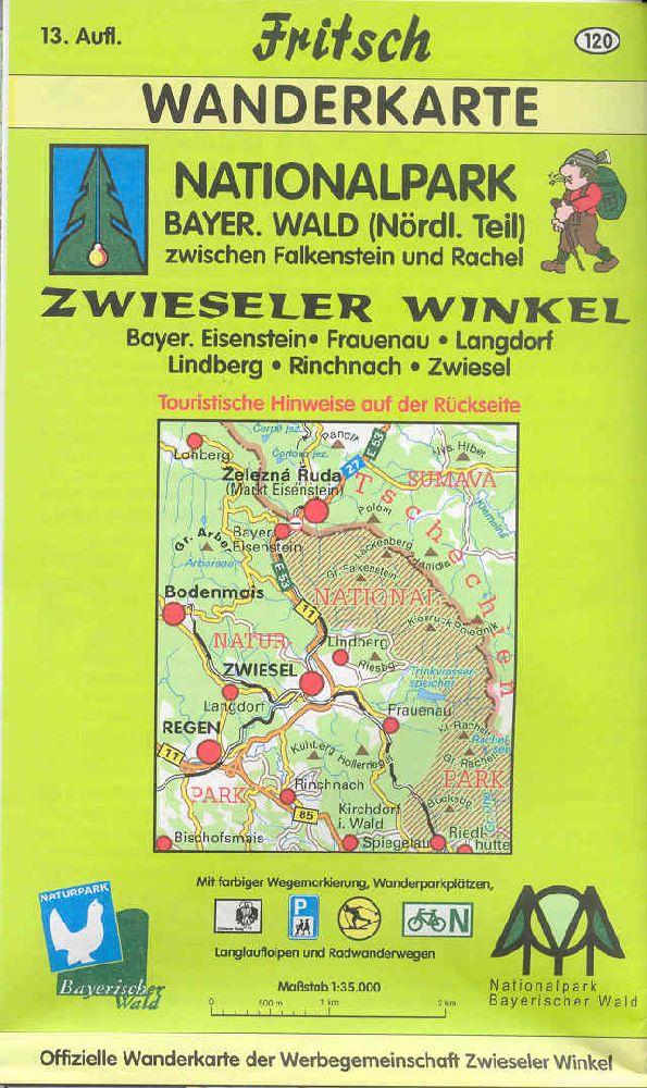Wanderkarte Zwieseler Winkel. Foto: Fritsch