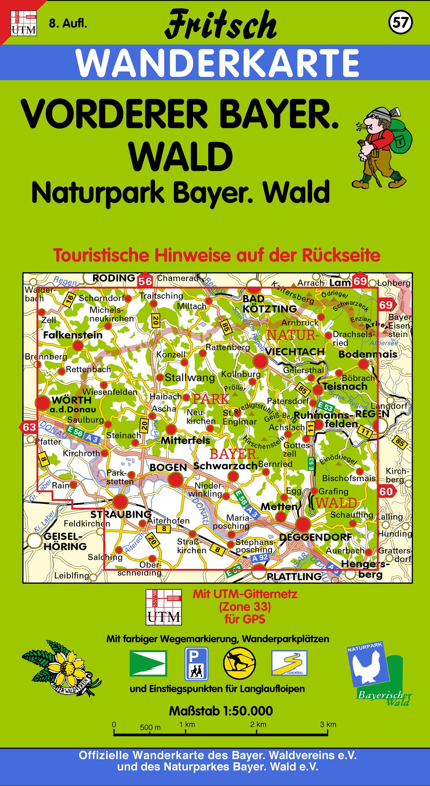 Wanderkarte Vorderer Bayerischer Wald. Foto: Fritsch