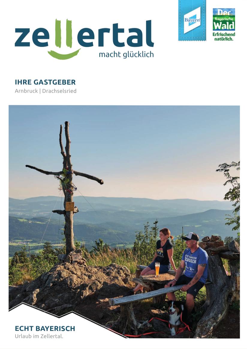 Gastgeberverzeichnis Zellertal. Foto: Tourist-Information Arnbruck.