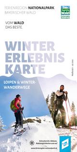 Wintererlebniskarte der Ferienregion Nationalpark Bayerischer Wald mit Loipen und Winterwanderwegen. Foto: Ferienregion Nationalpark Bayerischer Wald.