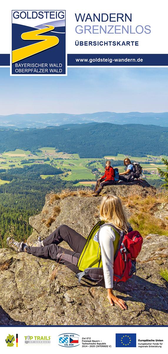 Goldsteig Wandern Übersichtskarte. Foto: Tourismusverband Ostbayern e.V.
