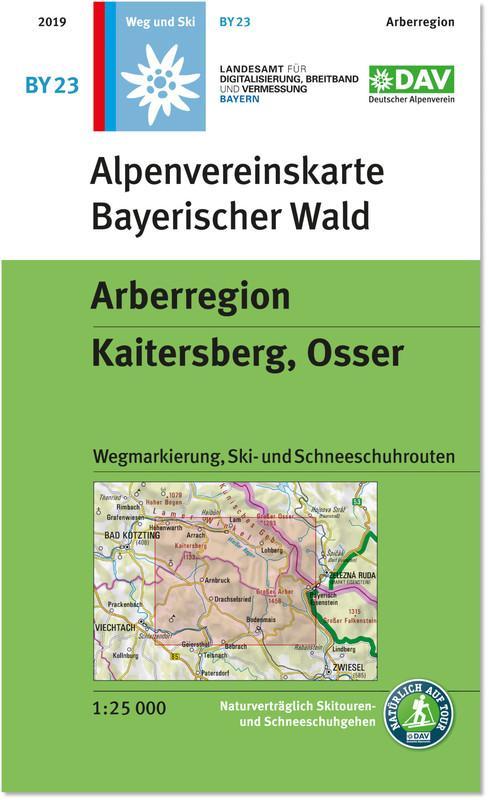 Alpenvereinskarte Bayerischer Wald. Foto: Deutscher Alpenverein.