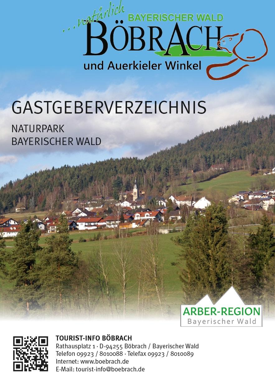 Gastgeberverzeichnis Böbrach. Foto: Tourist-Information Böbrach.